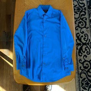 Mens Apt. 9 Slim Fit Dress Shirt in Cobalt Blue